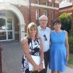 Left to right: HammondCare staff Cheryl Johnson, Prof Rod MacLeod and Gretel Kemp