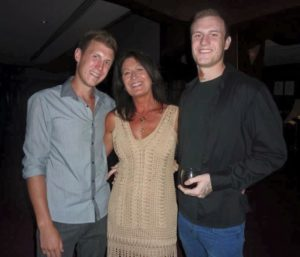 Dianne Rich with her sons Sam (left) and Ashley.