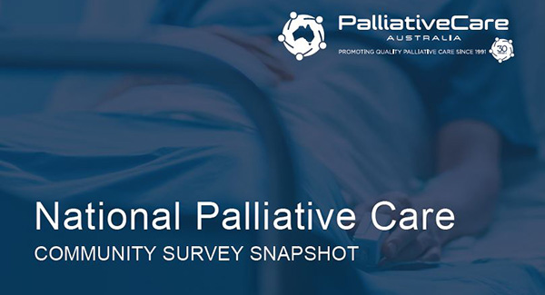National Palliative Care Community Survey Snapshot